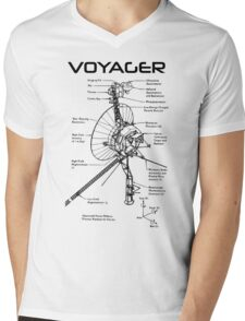 Voyager Program - Black Ink Mens V-Neck T-Shirt