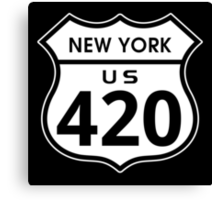 New York 420 Day US Highway Sign Canvas Print