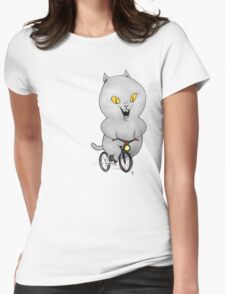 Cat on a Bicycle Womens Fitted T-Shirt