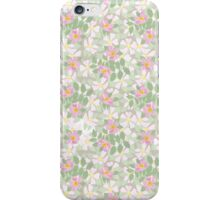 Pink Dog Roses on Taupe iPhone Case/Skin
