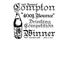 "2nd Annual Compton ""40oz Bounce"" Drinking Competition Winner 2013 Photographic Print"