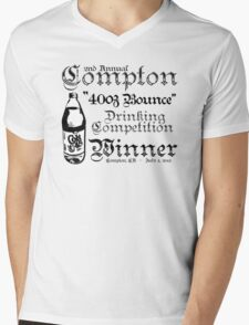 "2nd Annual Compton ""40oz Bounce"" Drinking Competition Winner 2013 Mens V-Neck T-Shirt"