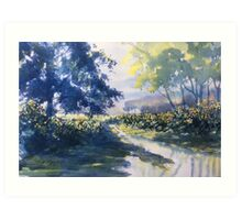 """Strensall Common"" - demo painting Art Print"