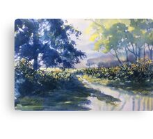 """""""Strensall Common"""" - demo painting Canvas Print"""