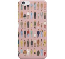 The Characters of Wes Anderson iPhone Case/Skin