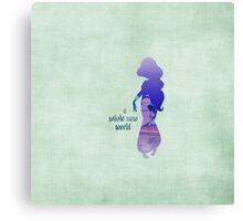 """A Whole New World"" - Jasmine - Aladdin - Disney Inspired Canvas Print"