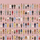 The Characters of Wes Anderson by NerdyCatDesign