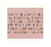 The Characters of Wes Anderson Art Print