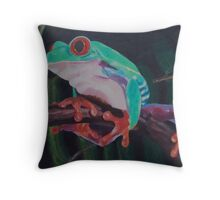 Red-eyed Australian Tree Frog  Throw Pillow