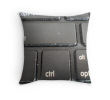 Keyboard gone canvas Throw Pillow