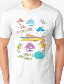 Happy Little Fishes Unisex T-Shirt