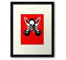 Skull and Guitars Framed Print
