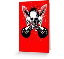 Skull and Guitars Greeting Card