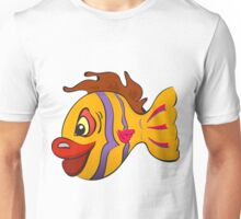 Smiling cartoon fish Unisex T-Shirt