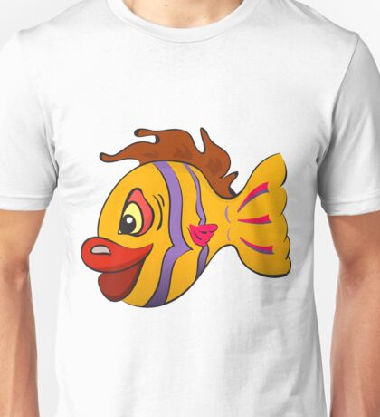 Smiling cartoon fish Unisex T-Shirt