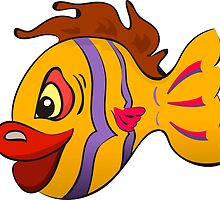 Smiling cartoon fish by Deanora