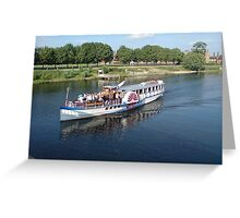 Boat Cruise in River Thames Greeting Card