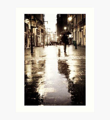 Rainy evening Art Print