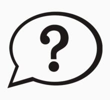 Speech bubble question mark by Designzz