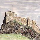 Lindisfarne Castle by GEORGE SANDERSON