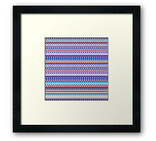 Repeating geometrical figures  Framed Print