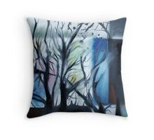 Mondrian Trees I Throw Pillow