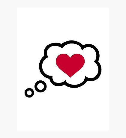 Speech bubble red heart Photographic Print