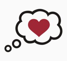 Speech bubble red heart by Designzz