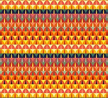 Colorful repeating geometrical stripes by Deanora