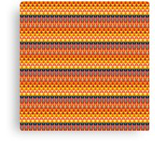 Colorful repeating geometrical stripes Canvas Print