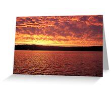 sunset   10 1 2009 Greeting Card