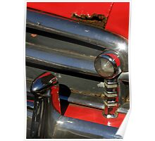 Chrome And Red With A Hint Of Rust Poster