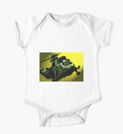 Sea King commando helicopter in action  One Piece - Short Sleeve