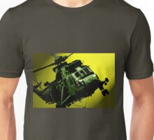Sea King commando helicopter in action  Unisex T-Shirt