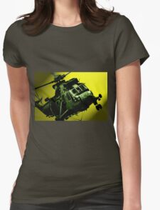 Sea King commando helicopter in action  Womens Fitted T-Shirt