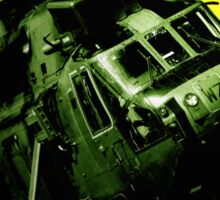 Sea King commando helicopter in action  Sticker