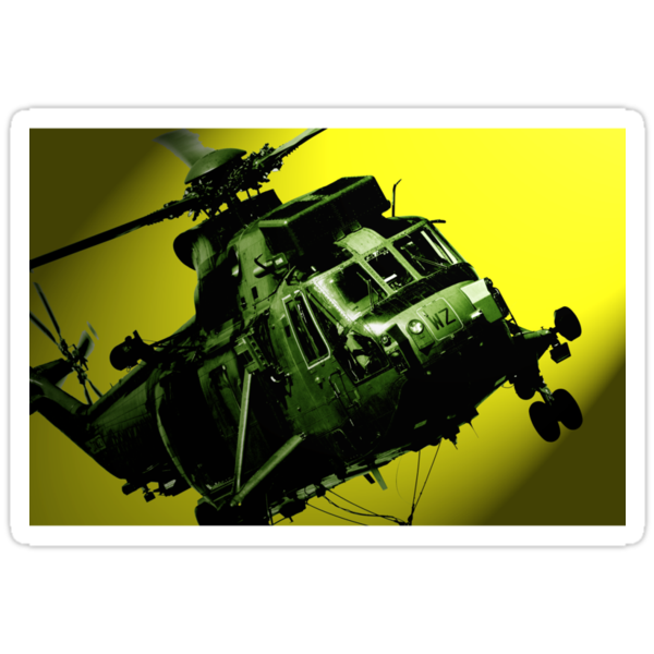 Sea King commando helicopter in action  by RedSteve