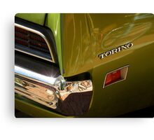 Chrome And Green With A Hint Of Red Canvas Print