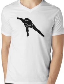 Speed skating Mens V-Neck T-Shirt