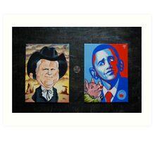 McCain Maverick, Obama Lipstick Pig Art Print