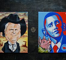McCain Maverick, Obama Lipstick Pig by OscarEA