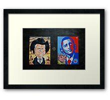 McCain Maverick, Obama Lipstick Pig Framed Print