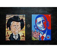 McCain Maverick, Obama Lipstick Pig Photographic Print