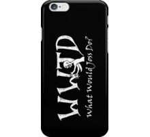 What Would Joss Do? (white) iPhone Case/Skin