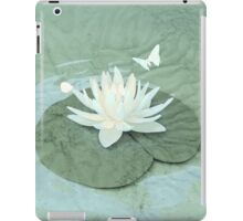 Lotus and Butterflies on Turquoise Water iPad Case/Skin