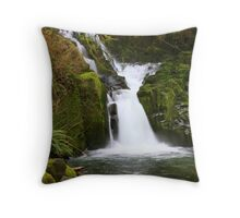 Sweet Creek Falls, Oregon Throw Pillow