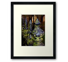 Mossy Spikes Framed Print