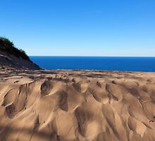 Sleeping Bear Dunes Overlook - Lake Michigan by Craig Sterken