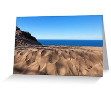 Sleeping Bear Dunes Overlook - Lake Michigan Greeting Card