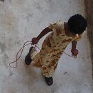 Girl skipping really! by jemmanyagah